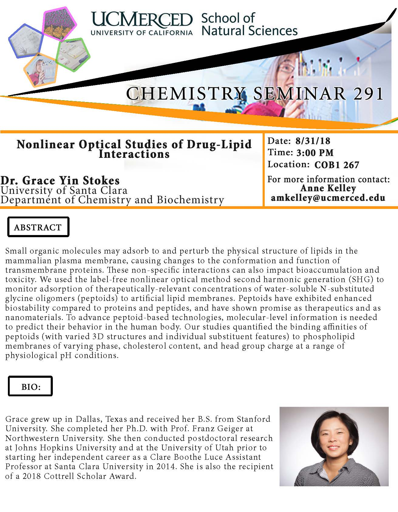 Chemistry Seminar Series 291 (8/31/18)