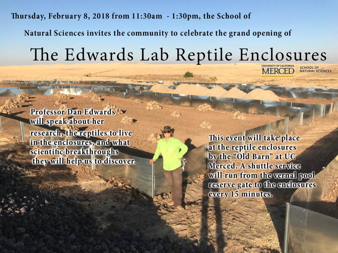Reptile Enclosure Opening Event