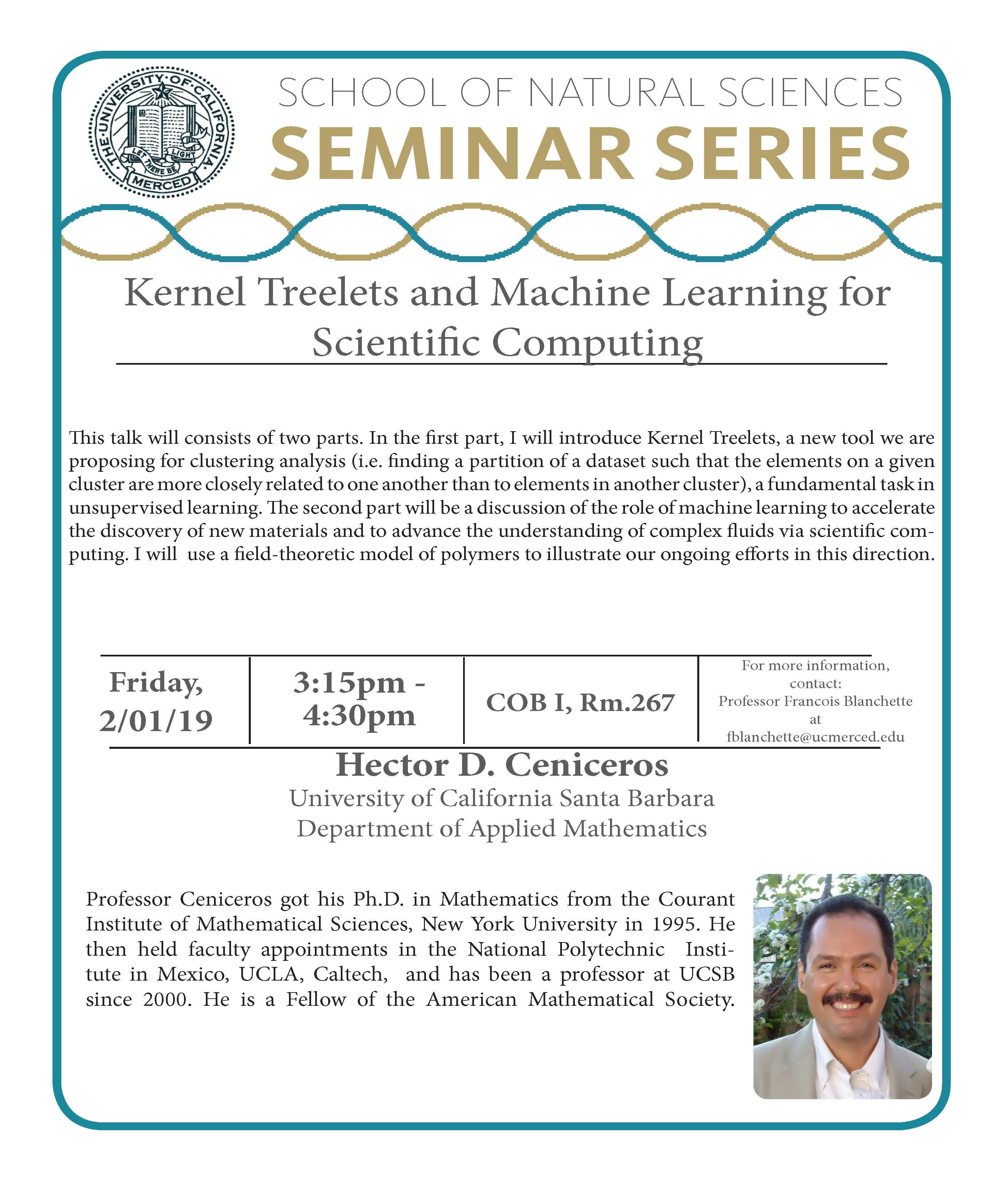 MATH Seminar - Dr. Hector D. Ceniceros