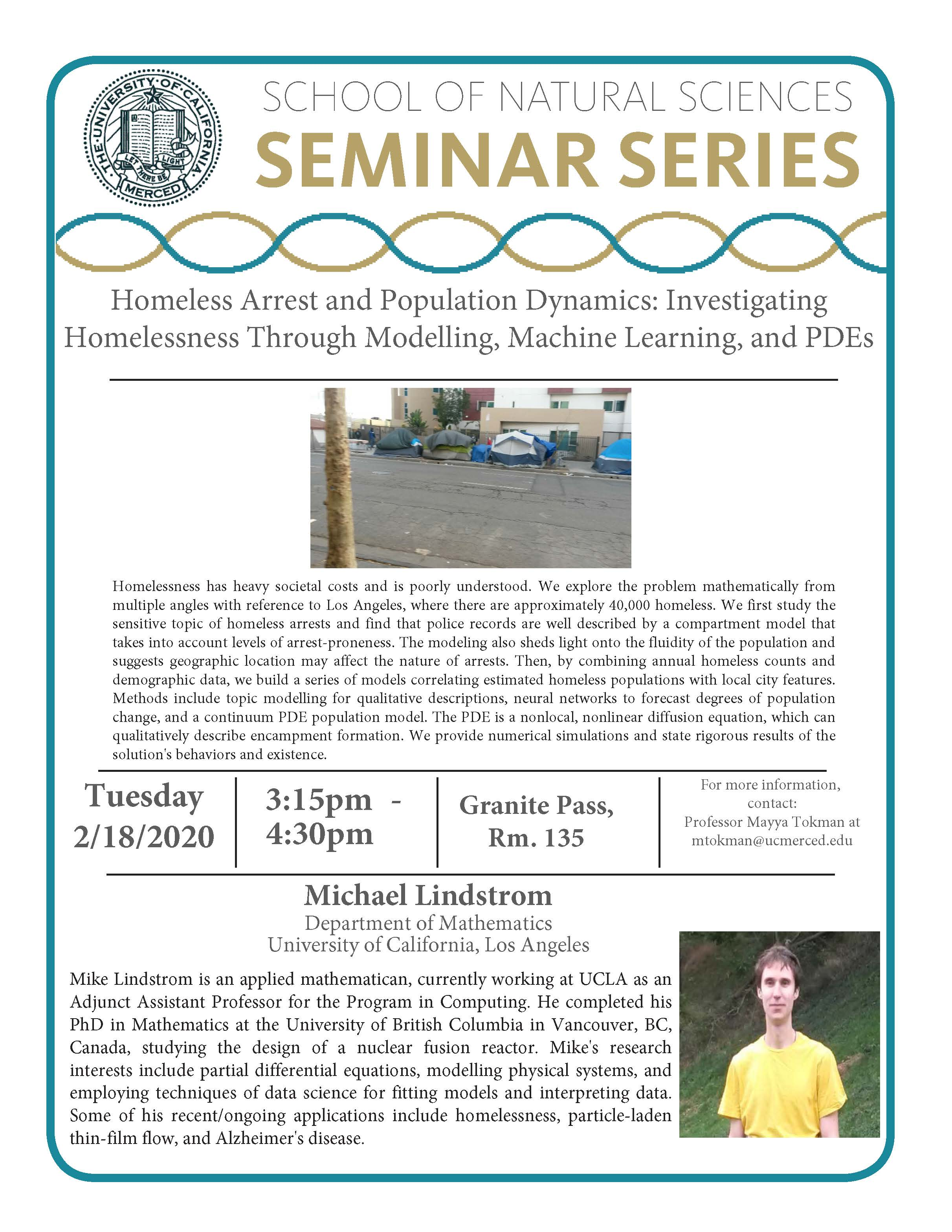 Applied Math Seminar for Dr. Michael Lindstrom