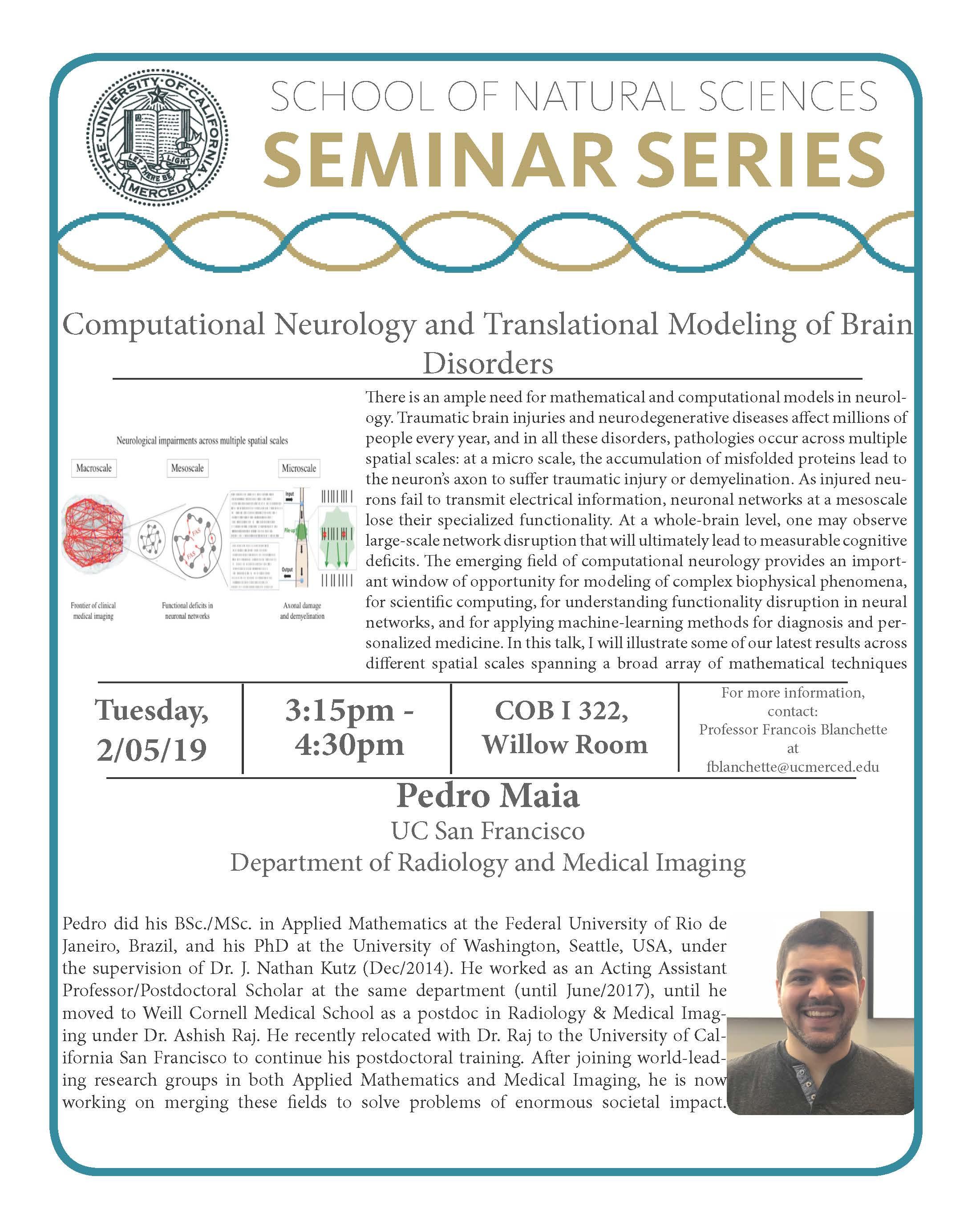 MATH Seminar - Dr. Pedro Maia