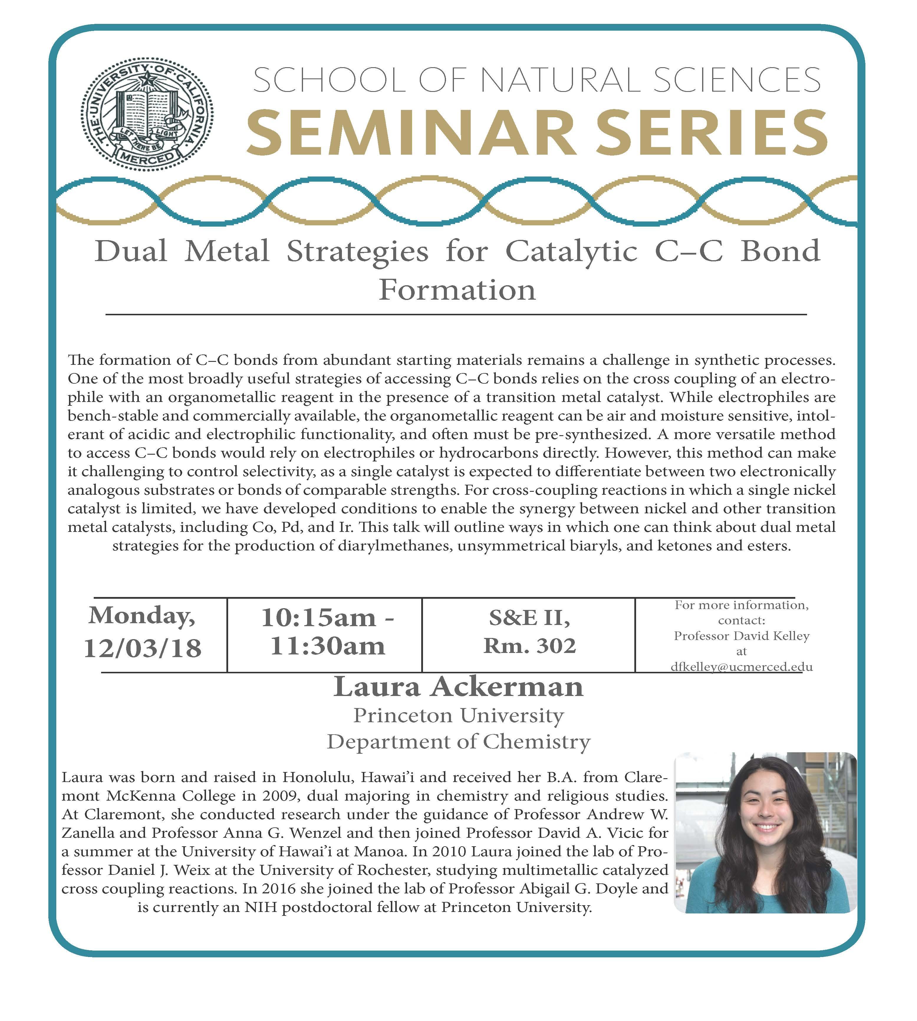 CCB Seminar- Laura Ackerman