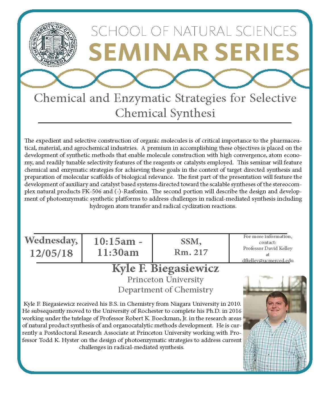 CCB Seminar - Kyle F. Biegasiewicz
