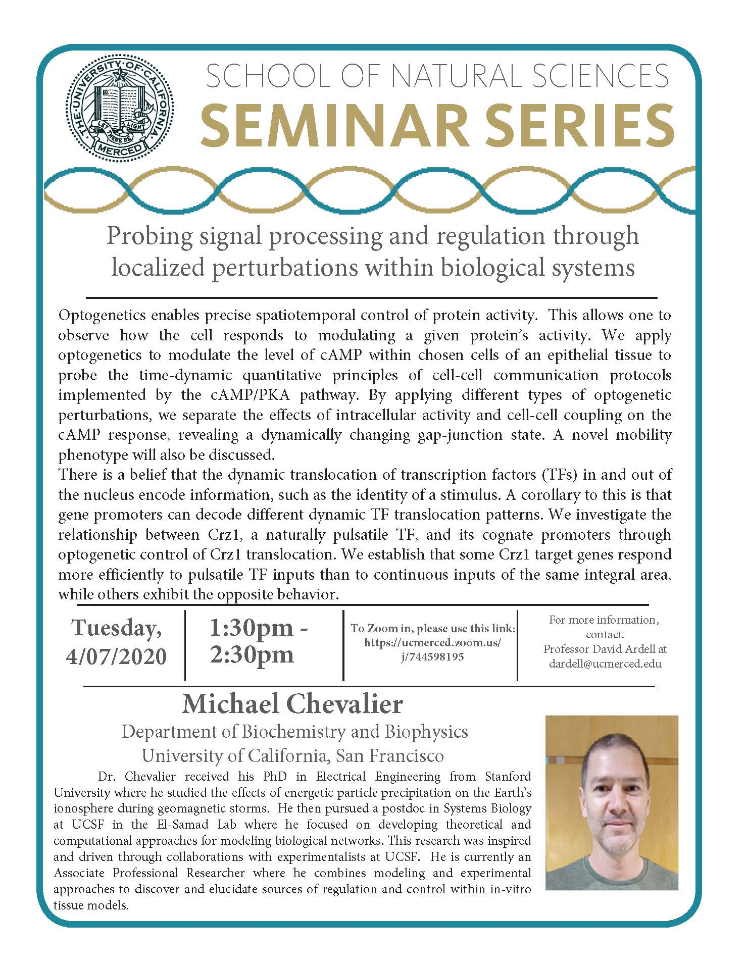 MCB Seminar for Dr. Michael Chevalier