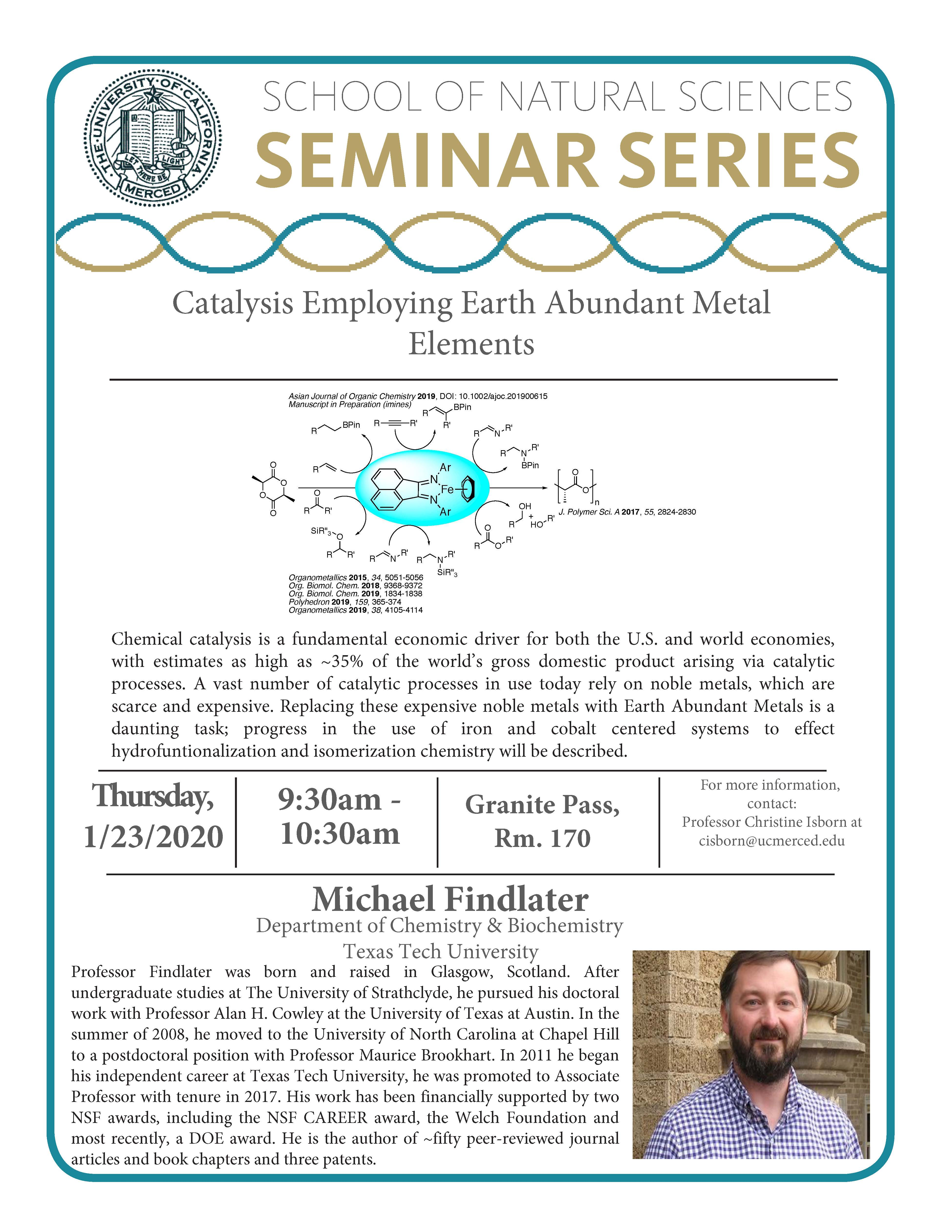 CCB Seminar for Dr.Michael Findlater