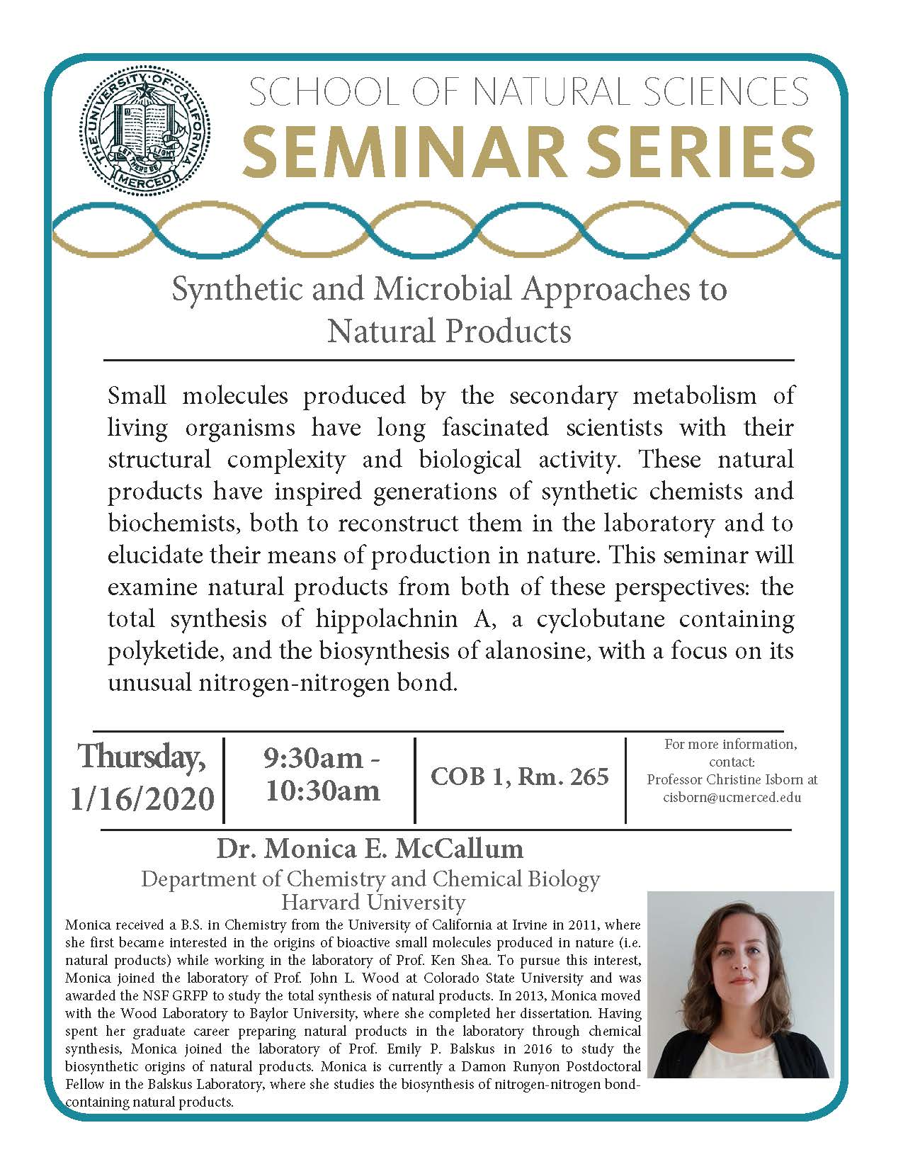 UC Merced School of Natural Sciences Seminar Series