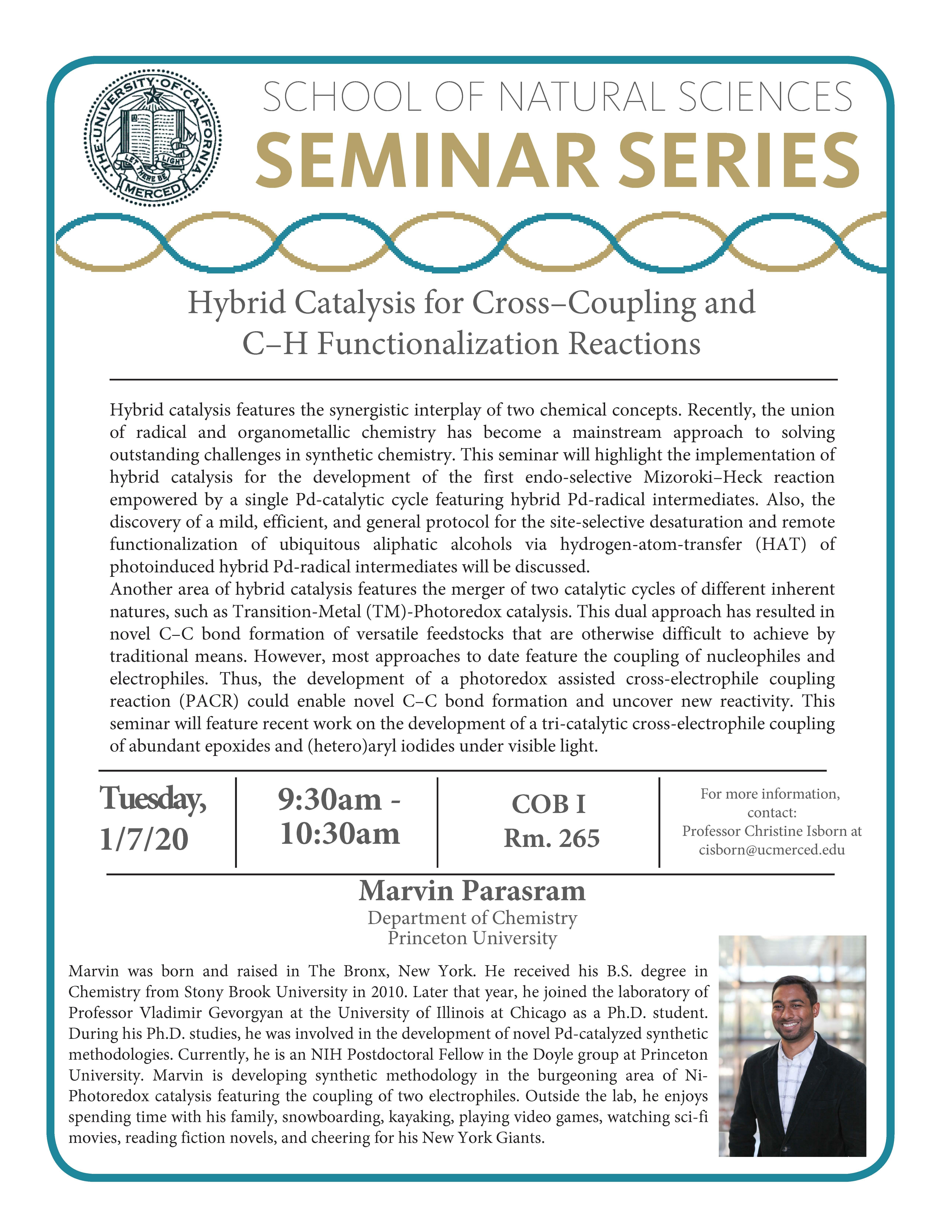CCB Seminar for Dr. Marvin Parasram