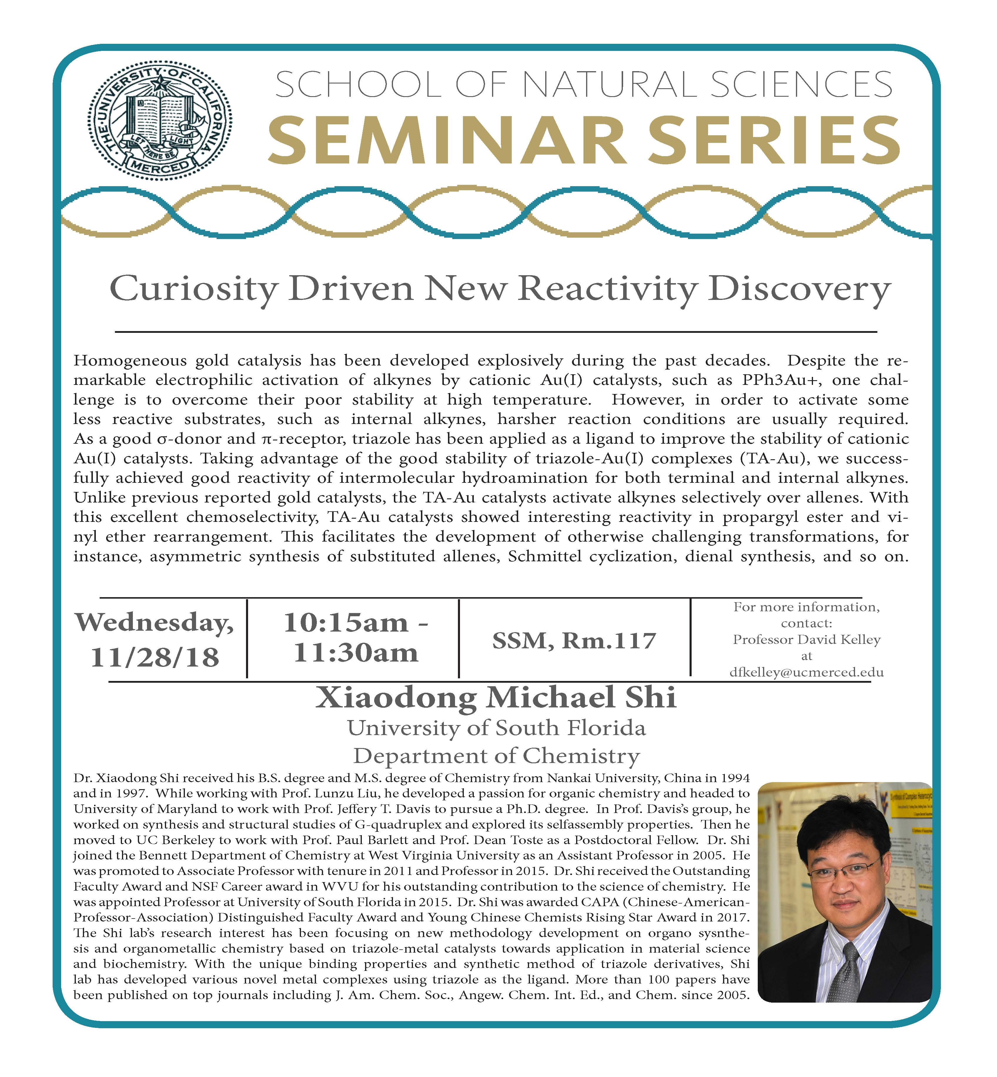CCB Seminar - Michael Shi