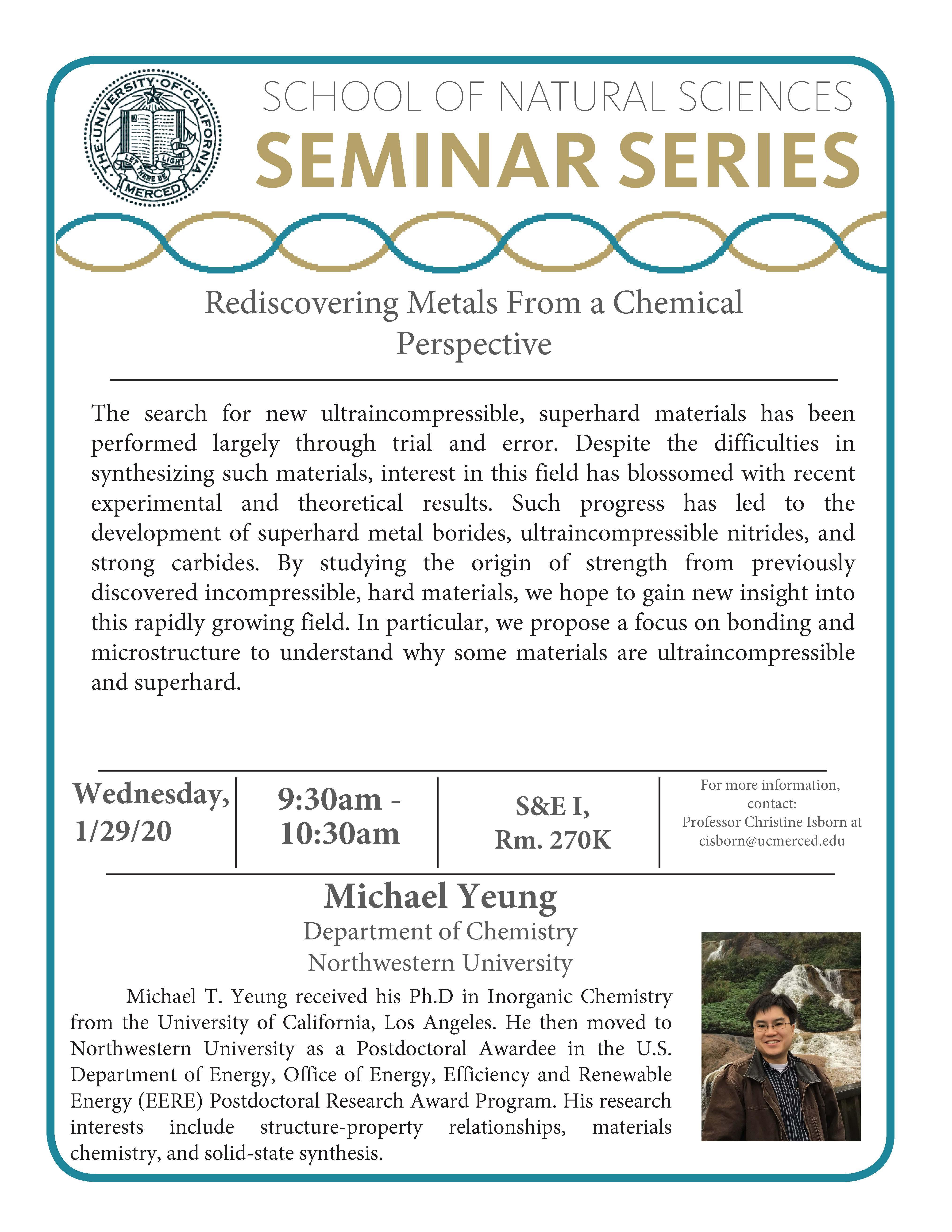CCB Seminar: Dr. Michael Yeung