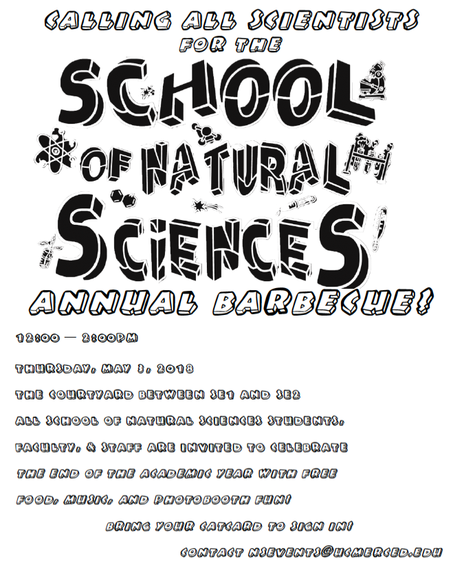 The School of Natural Sciences Annual Barbecue 2018