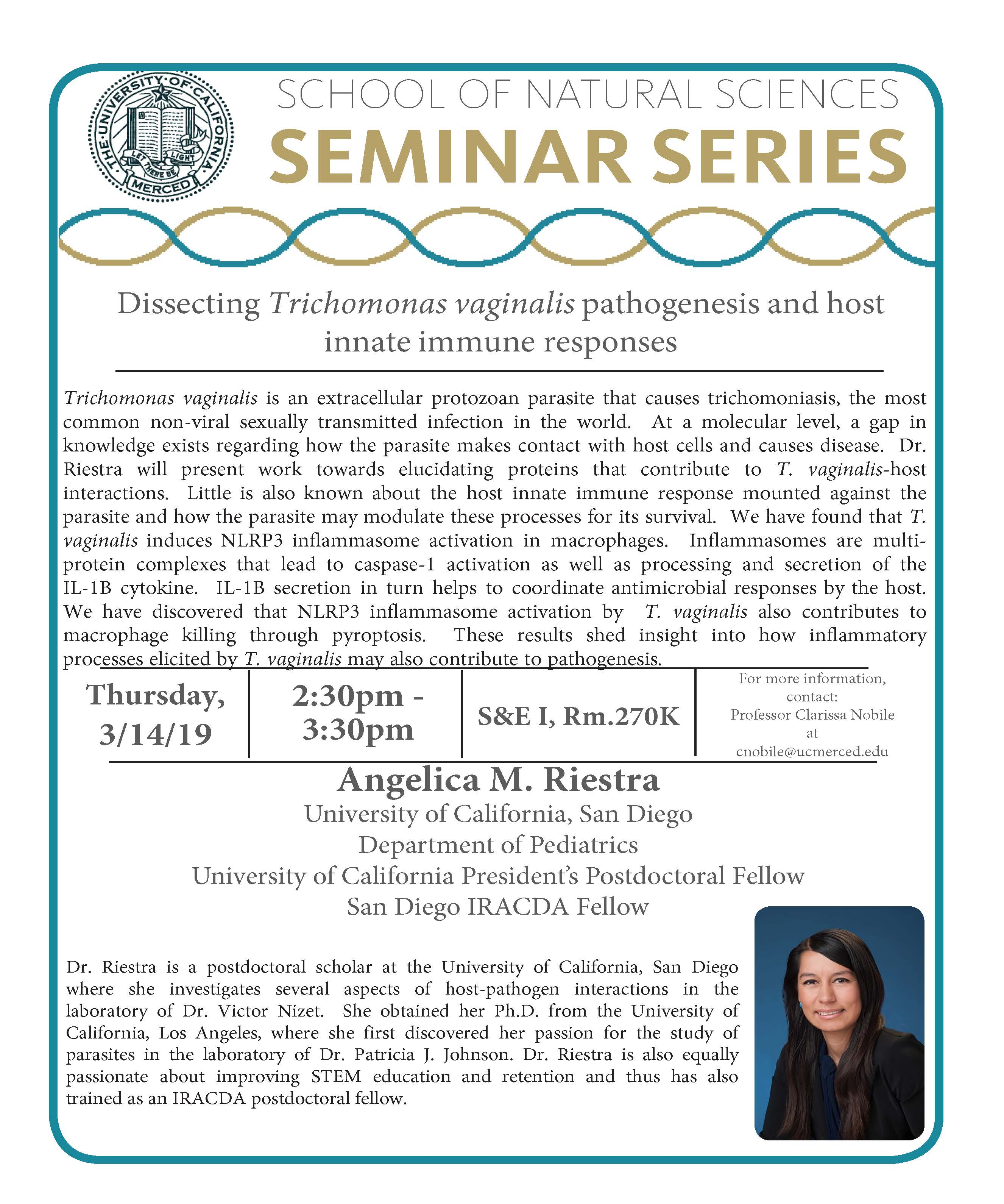 MCB Seminar - Dr. Angelica Riestra