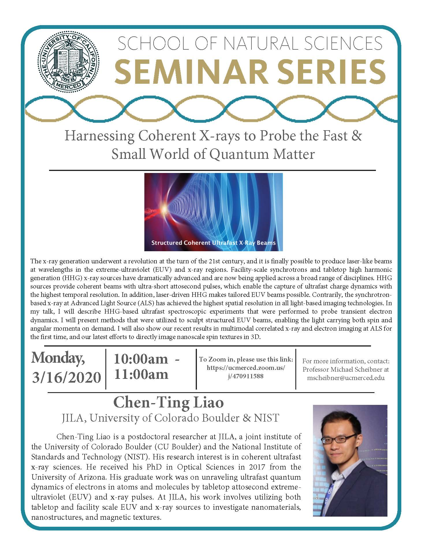 Physics Seminar for Dr. Chen-Ting Liao