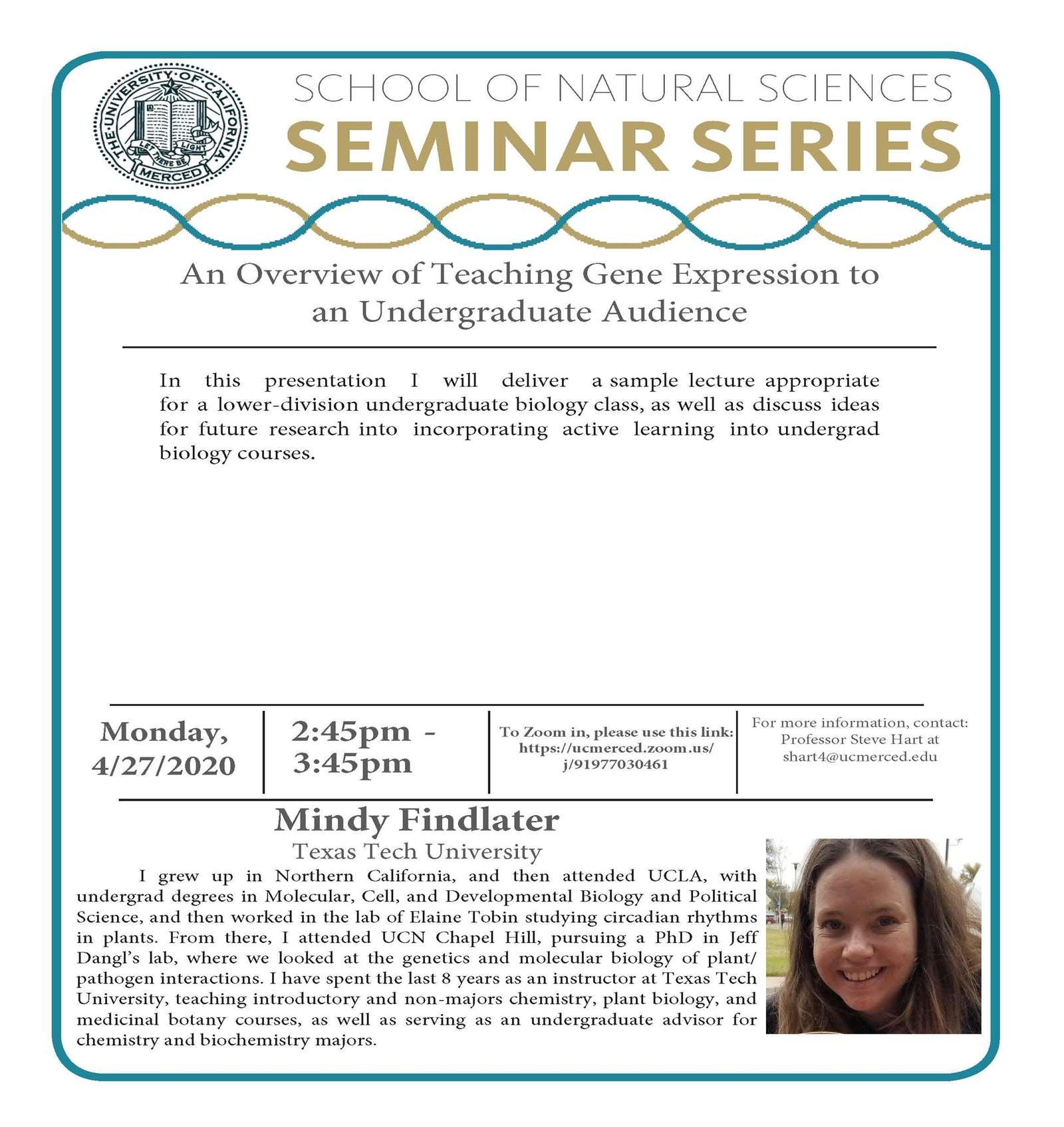 LES Seminar for Dr. Mindy Findlater