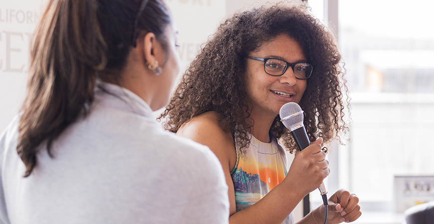 RadioBio hosts GradStory, an event that takes place during research week to highlight graduate students' research and their journey to graduate school.