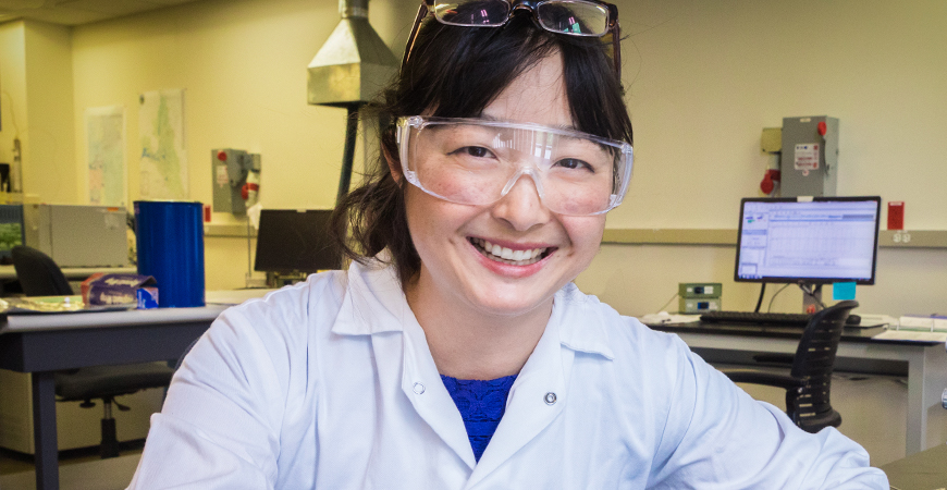 Life and Environmental Sciences Professor Sora Kim studies climate change by examining the isotopes in fossilized shark teeth.