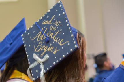 Photo of graduation cap from UC Merced