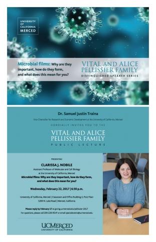 Vital and Alice Pellissier Family Distinguished Speaker Series 2017: Professor Clarissa J. Nobile