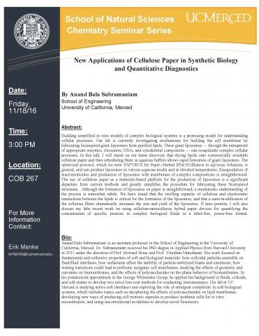 Chemistry Seminar Series 11/18/16
