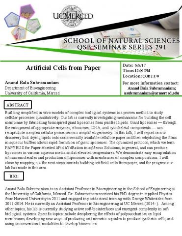 UC Merced QSB Seminar Series 291