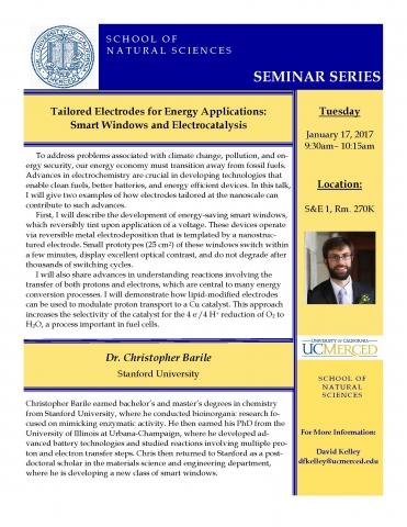 Chemistry Seminar Series - 1/17/17