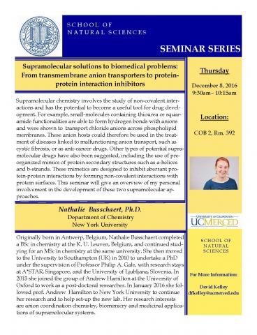 Chemistry Seminar (12/8/16)