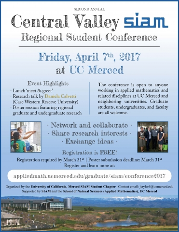 Central Valley SIAM Regional Student Conference