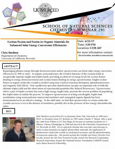 Chemistry Seminar 291 (4/21/17)