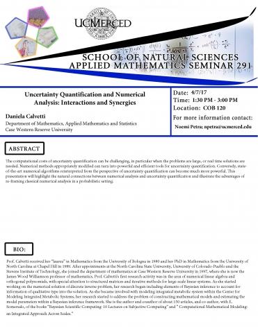 Applied Mathematics Seminar 291