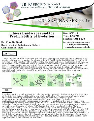 QSB Seminar Series 291 (8/25/17)