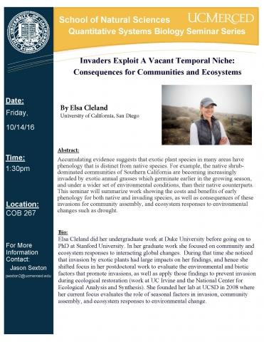 QSB Seminar Series 10/14/16