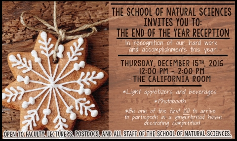 School of Natural Sciences End of the Year Reception 12/15/16