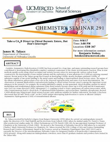 Chemistry Seminar 291 (9/8/17)