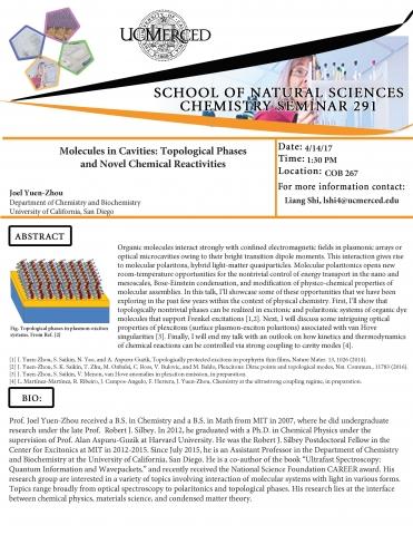 Chemistry Seminar Series 291 (4/14/17)