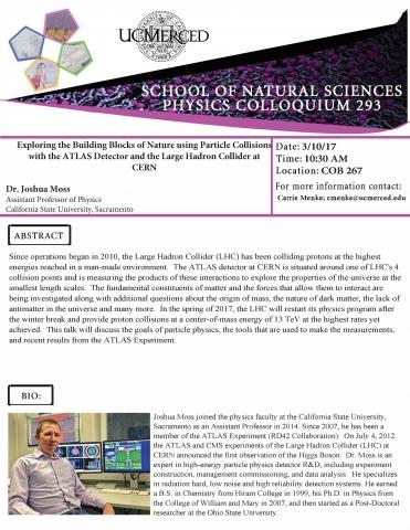 Physics Seminar Series 293 (3/10/17)