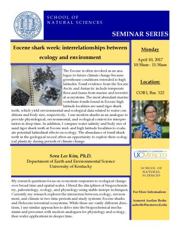 Life and Environmental Sciences Seminar (4/10/2017)