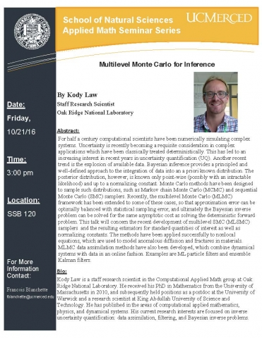 Applied Math Seminar Series 10/21/16