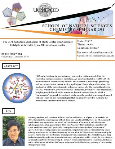 Chemistry Seminar Series 291 (2/10/17)