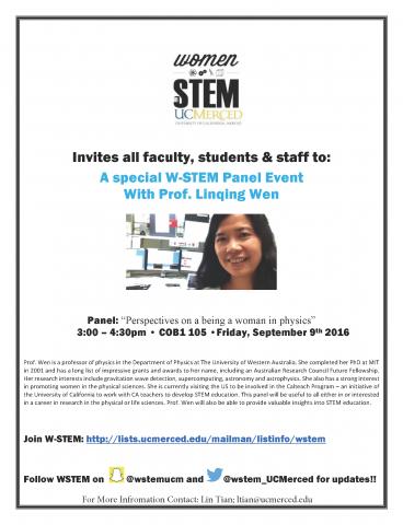 W-Stem Panel Event 9/9/16