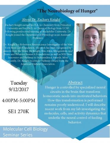 MCB Seminar Series (9/12/17)