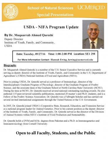 USDA - NIFA Special Presentation 9/27/16