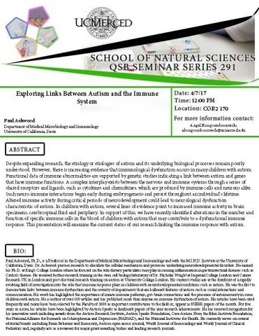 QSB Seminar Series 291 (4/7/17)