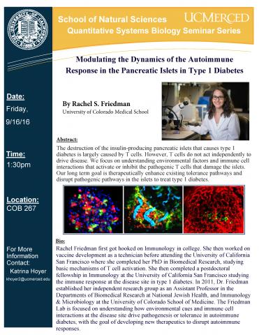 QSB Seminar Series 9/16/16