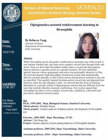QSB Seminar Series 10/21/16