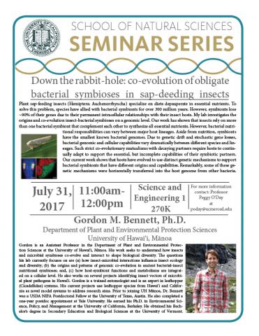 School of Natural Sciences Seminar