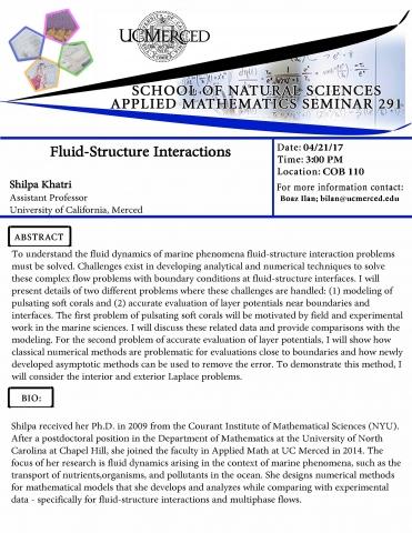 Applied Mathematics Seminar 291 (4/21/17)