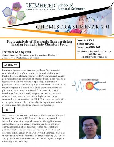 Chemistry Seminar Series 291 (8/25/17)