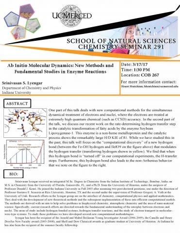 Chemistry Seminar Series 291 (3/17/17)