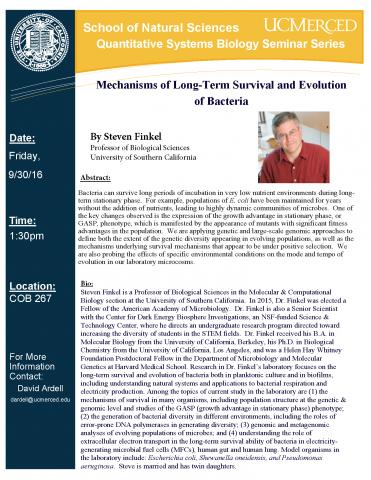 QSB Seminar Series 9/30/16