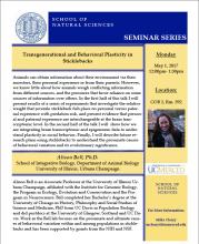 Molecular Cell Biology Seminar (5/1/17)